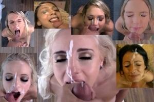 Porno kompilace výstřiků semene do obličeje