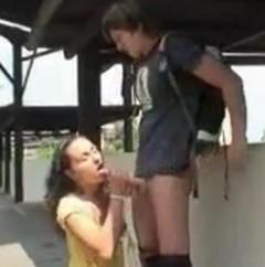 Sex na vlakovém nádraží (české porno)