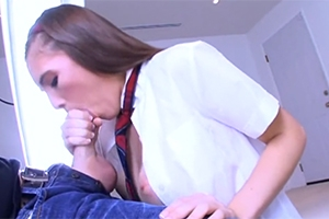 Studentka šuká před odchodem do školy